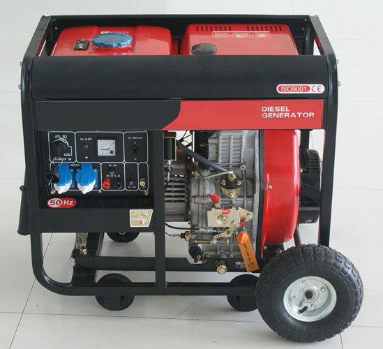 5000 Watt Pull start open frame portable diesel power generator AC Single Phase