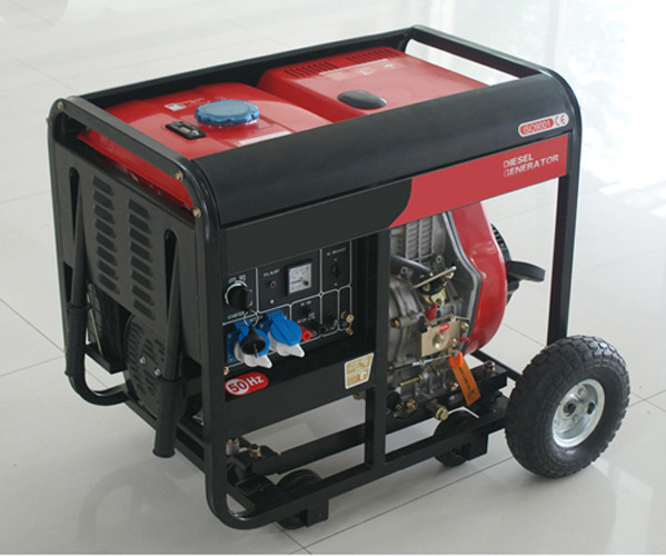 AC SIngle Phase 50HZ/4.6KW Key Start silent diesel generators for home use and shop