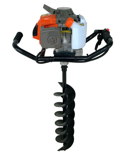 2 Stroke Gasoline Powered Earth ground hog post hole digger with Metal Material