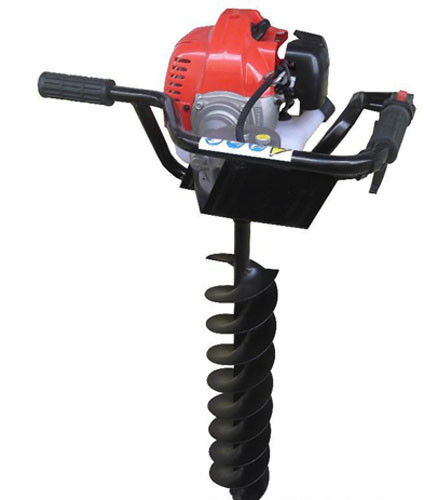 High power gasoline earth auger with brake / ground drilling machine