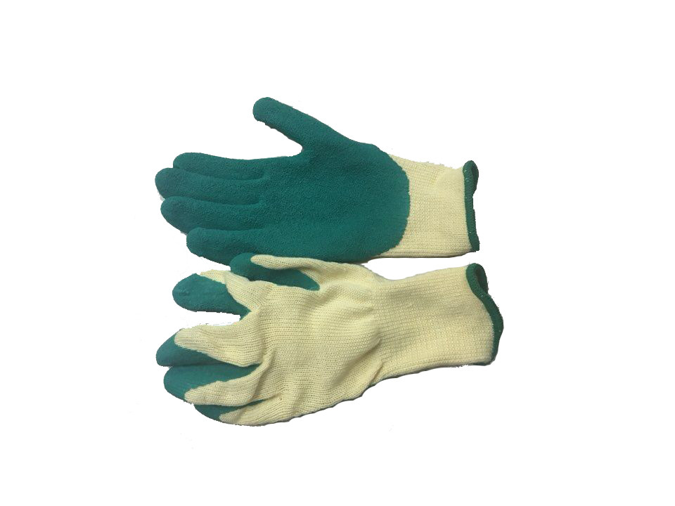 Working Coated Latex Rubber Gloves / 10 Gauge Natural Latex Gloves For Farm
