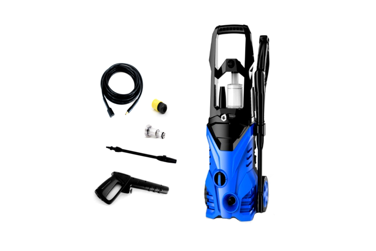 Mobile Pressure Washer 1500 PSI 1400W Electric Washer Surface Cleaner